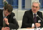 Douglas Carpenter, coordinator on Ukraine, DG External Relations and Valeriy Piatnytskiy, Deputy Minister of Economy of Ukraine, speaks at the DCFTA Round Table