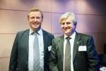 Filip Vandenbroele with Ihor Kostenok of the EUUBC, at Diamant Conference Centre