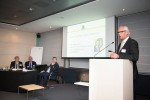 Piet Moons of the Agoria Sports Technology Club opened the meeting, at Diamant Conference Centre