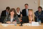 Nadiya Tsok, Mission of Ukraine to the EU, and Ekaterina Tsaranok, EU Ukraine Business Council
